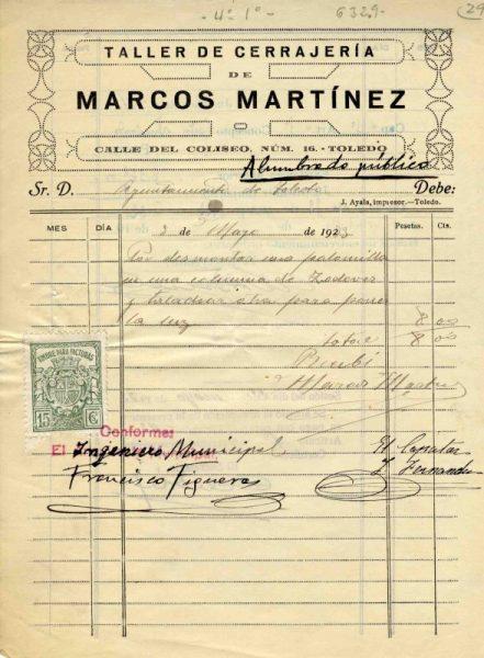 1933 Taller de cerrajería de Marcos Martínez