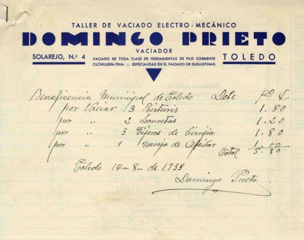 1933 Taller de vaciado electromecánico de Domingo Prieto