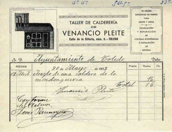 1933 Talller de calderería de Venancio Pleite