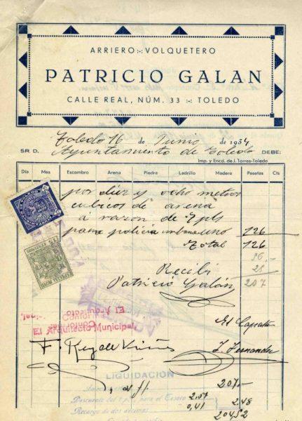 1934 Arriero y volquetero Patricio Galán