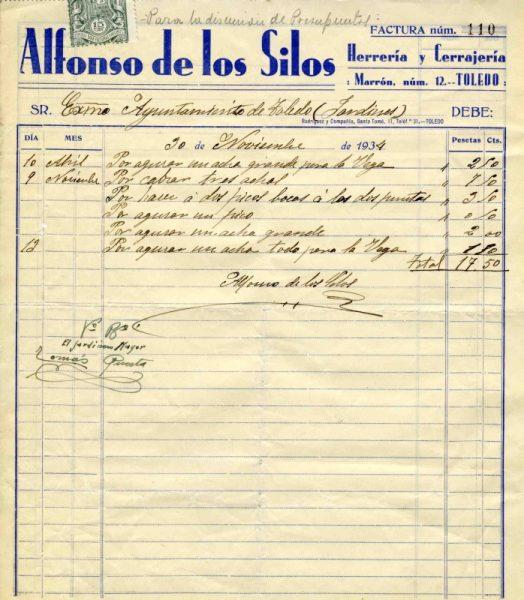 1934 Herrería y cerrajería de Alfonso de los Silos