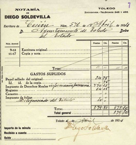 1934 Notaría de Diego Soldevilla