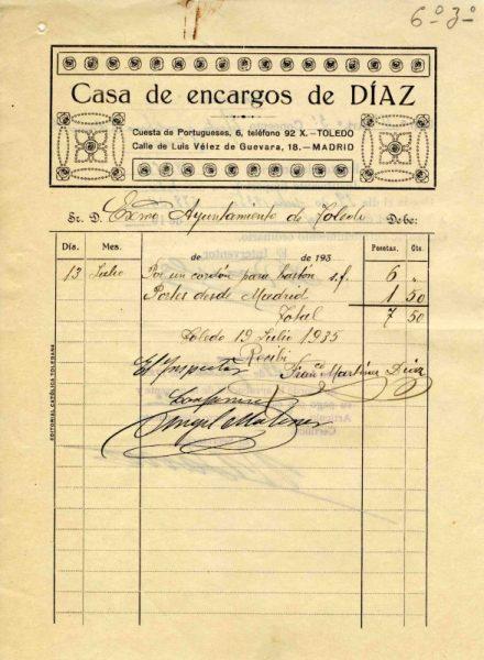 1935 Casa de encargos de Díaz
