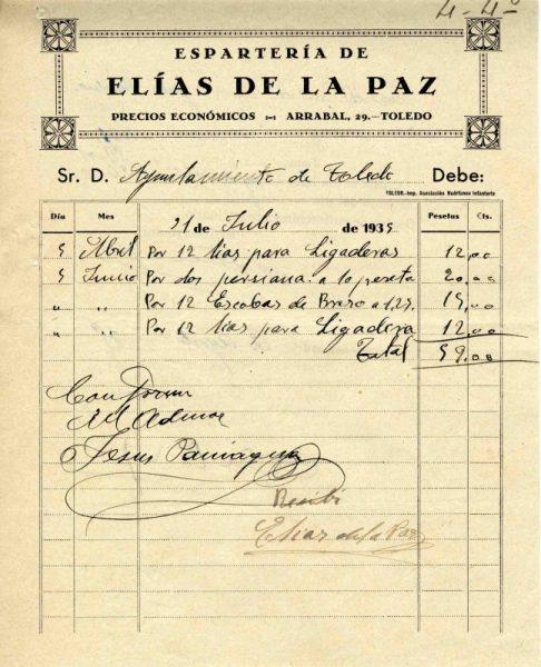 1935 Espartería de Elías de la Paz
