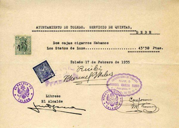 1935 Expendeduría de tabacos de Manuel García Rubio