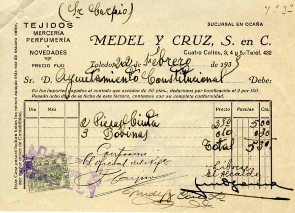 1935 Mercería y perfumería de Medel y Cruz