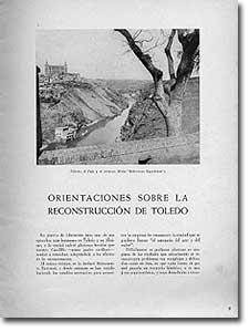 ORIENTACIONES SOBRE LA RECONSTRUCCIÓN DE TOLEDO - Arístides Fernández Vallespín - 1941-9