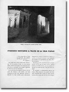 ITINERARIO NOCTURNO A TRAVÉS DE LA VIEJA CIUDAD - Arístides Fernández Vallespín - 1944-40