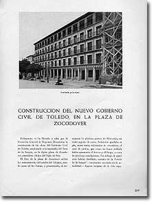 CONSTRUCCIÓN DEL NUEVO GOBIERNO CIVIL DE TOLEDO, EN LA PLAZA DE ZOCODOVER - Arístides Fernández Vallespín - 1944-46