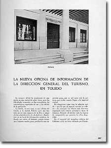 LA NUEVA OFICINA DE INFORMACIÓN DE LA DIRECCIÓN GENERAL DE TURISMO, EN TOLEDO - Antonio Camuñas - 1944-46