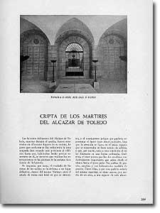 CRIPTA DE LOS MÁRTIRES DEL ALCÁZAR DE TOLEDO - Eduardo Lagarde - 1944-47