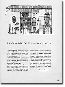 LA CASA DEL CONDE DE BENACAZÓN - Eduardo Olasagasti - 1946-62