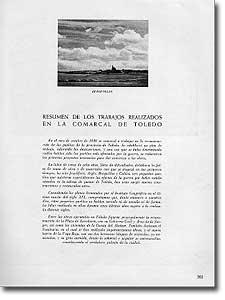 RESUMEN DE LOS TRABAJOS REALIZADOS EN LA COMARCAL DE TOLEDO - - 1947-76