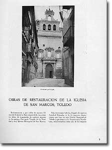 OBRAS DE RESTAURACIÓN DE LA IGLESIA DE SAN MARCOS, TOLEDO - Luis García Vallejo - 1951-106