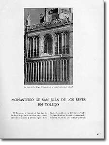 MONASTERIO DE SAN JUAN DE LOS REYES EN TOLEDO - Luis García Vallejo - 1951-107
