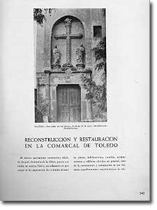 RECONSTRUCCIÓN Y RESTAURACIÓN EN LA COMARCAL DE TOLEDO - Luis García Vallejo - 1951-112