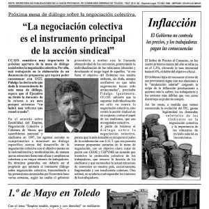 2001_La Hoja Sindical de CCOO de Toledo de junio de 2001