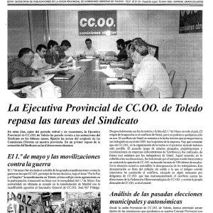 2003_La Hoja Sindical de CCOO de Toledo de junio de 2003