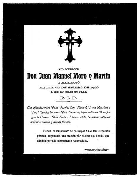 34 22-01-1920 Juan Manuel Moro y Martín