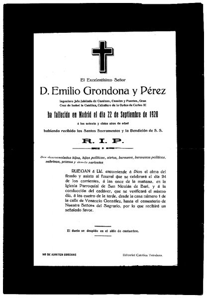 37 22-09-1920 Emilio Grondona y Pérez