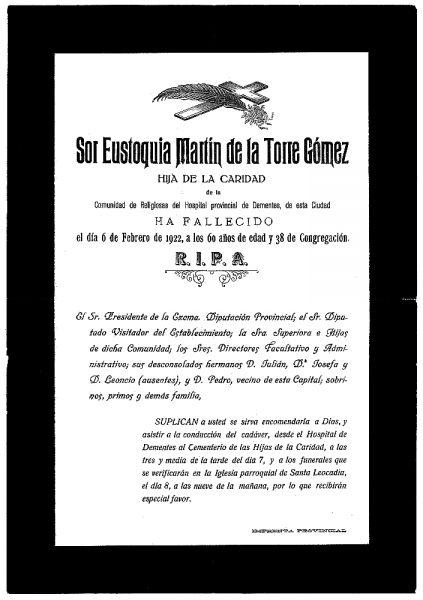 38 06-02-1922 Eustoquia Martín de la Torre Gómez