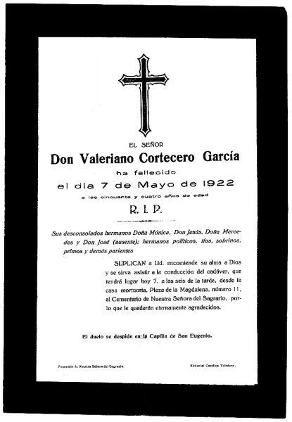 40 07-05-1922 Valeriano Cortecero García