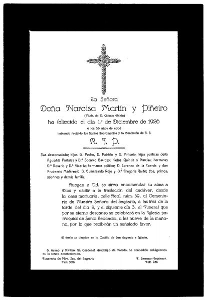 46 01-12-1926 Narcisa Martín y Piñeiro