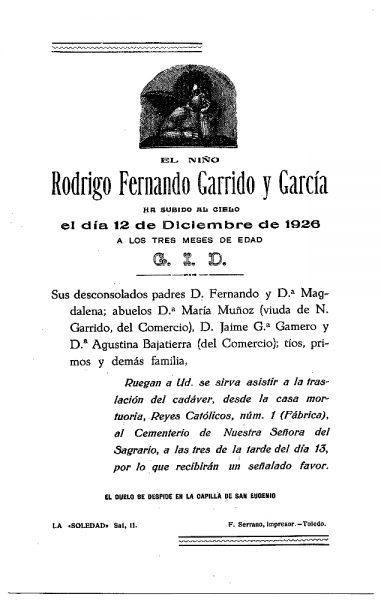 47 12-12-1926 Rodrigo Fernando Garrido y García