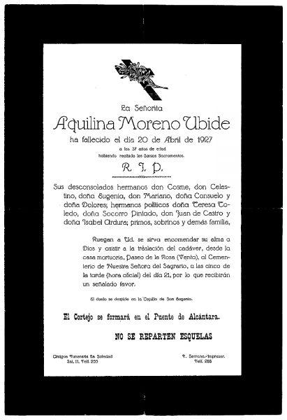 50 20-04-1927 Aquilina Moreno Ubide