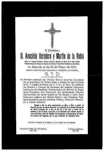 55 19-05-1933 Anacleto Heredero y Martín de la Rubia