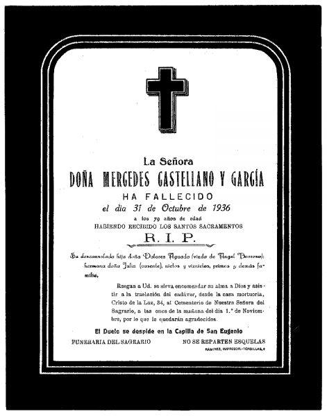 57 31-10-1936 Mercedes Castellano y García