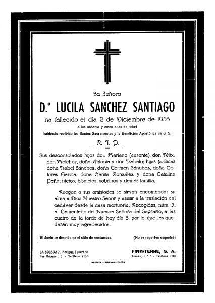 65 02-12-1953 Lucila Sánchez Santiago