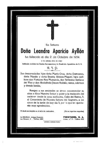 66 02-10-1954 Leandra Aparicio Ayllón