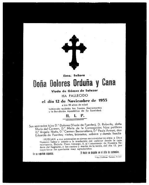 67 12-11-1955 Dolores Orduña y Cana