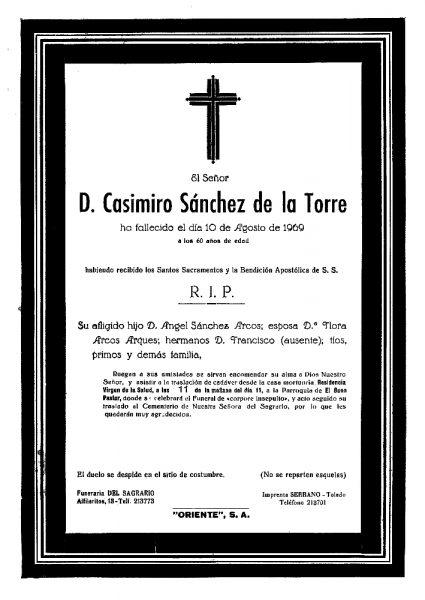 76 10-08-1969 Casimiro Sánchez de la Torre