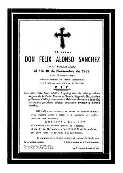 77 10-11-1969 Félix Alonso Sánchez