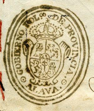 ALAVA - Gobierno político de la provincia de Álava - Año 1842