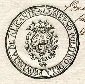 ALICANTE - Gobierno político de la provincia de Alicante - Año 1823