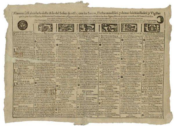 26 – Los almanaques del Archivo Municipal de Toledo