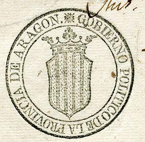 ARAGÓN - Gobierno político de la provincia de Aragón - Año 1822