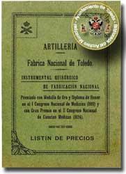 Artillería Fábrica Nacional de Toledo-Instrumental Quirúrgico_Año 1927