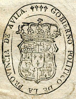 AVILA - Gobierno político de la provincia de Ávila - Año 1822