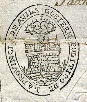 AVILA - Gobierno político de la provincia de Ávila - Año 1823