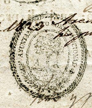 BARCELONA - Ayuntamiento de Arenis de Mar - Año 1823