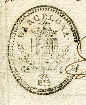 BARCELONA - Ayuntamiento de Barcelona - Año 1838