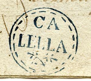 BARCELONA - Ayuntamiento de Calella - Año 1823
