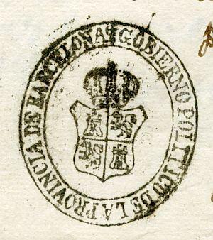BARCELONA - Gobierno político de la provincia de Barcelona - Año 1823
