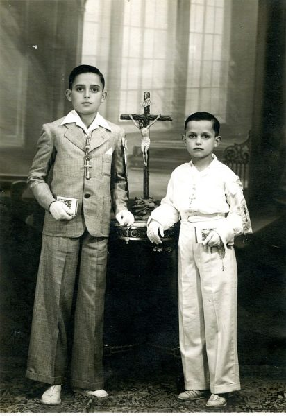 Blas Sánchez-Castro y su hermano Leocadio - 1940