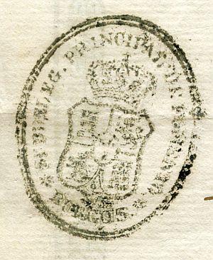 BURGOS - Subdelegación principal de Fomento de Burgos - Año 1836