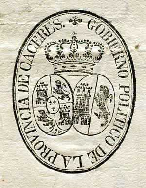 CÁCERES - Gobierno político de la provincia de Cáceres - Año 1823